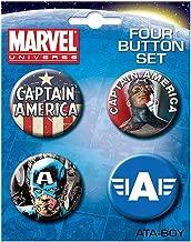 Ata-Boy Marvel Comics Captain America Set of 4 1.25