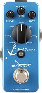 Donner Mod Square Guitar Effect Pedal, 7 Modulation Modes...