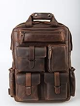 Hombres de la Moda de tiding-3583 Mochila Bolsa de Viaje, Equipo al Aire Libre, la Primera Capa de Cuero de Alta Calidad Hecho a Mano, Tendencia Retro Brown