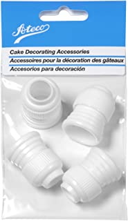 Ateco 398 Standard Plastic Couplers, for Use Cake Decorating Tubes and Bags, Set of 4, 4 Count, White