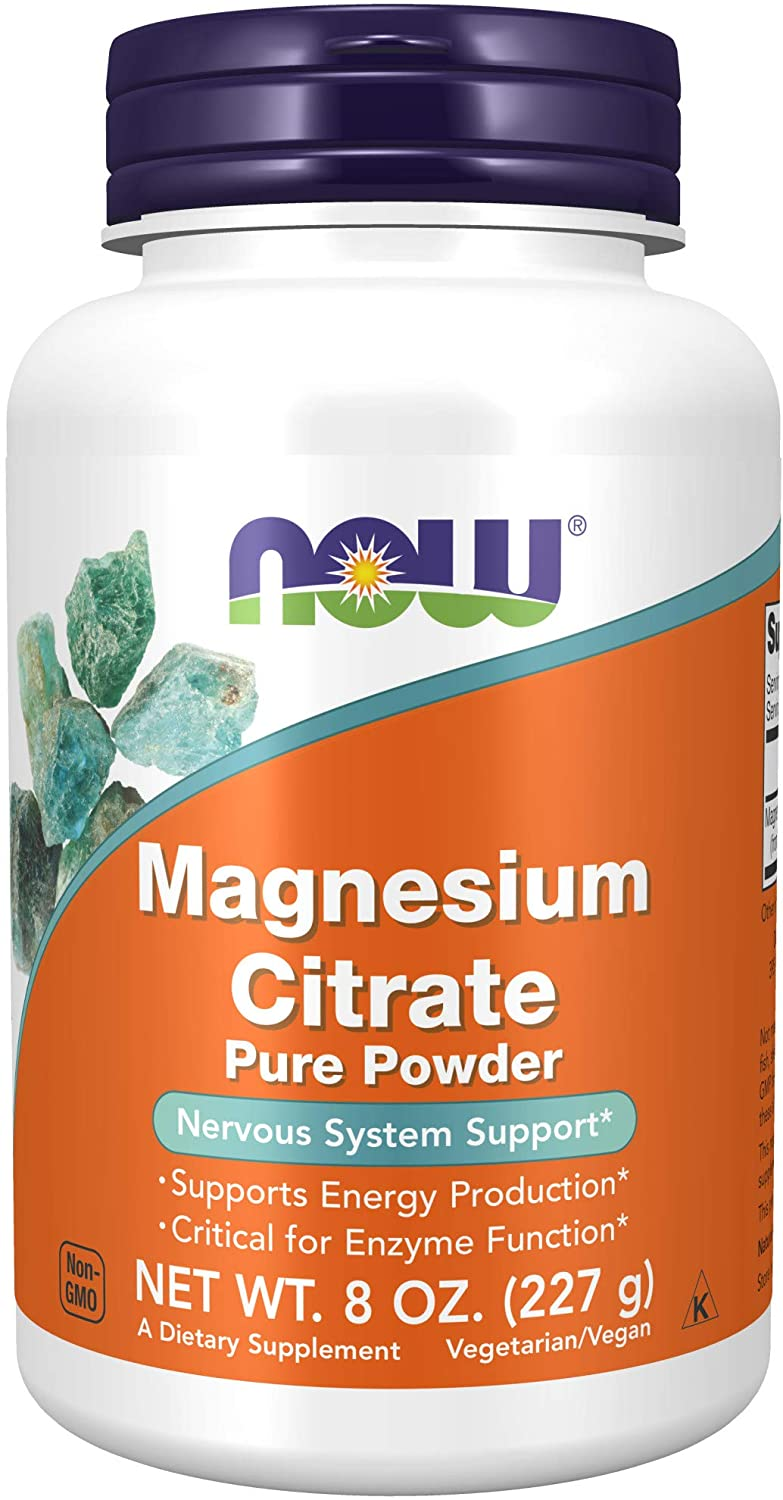NOW Supplements Magnesium Citrate Powder 8-Ounce Outstanding Direct sale of manufacturer Pure