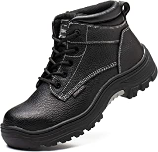 Work Safety Boots for Men with Wide Composite Toe and...