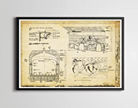 1971 Bear Country Theater Blueprint POSTER! (up to full-size 24