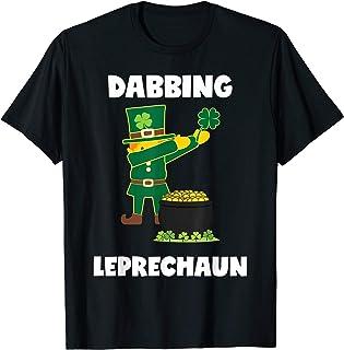 Dabbing Leprechaun St. Patricks Day Tshirt Kids Boys Girls
