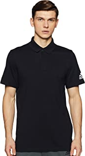 Adidas Men's Must Haves Plain Polo Shirt Polos, Black (Black), Large DT9911
