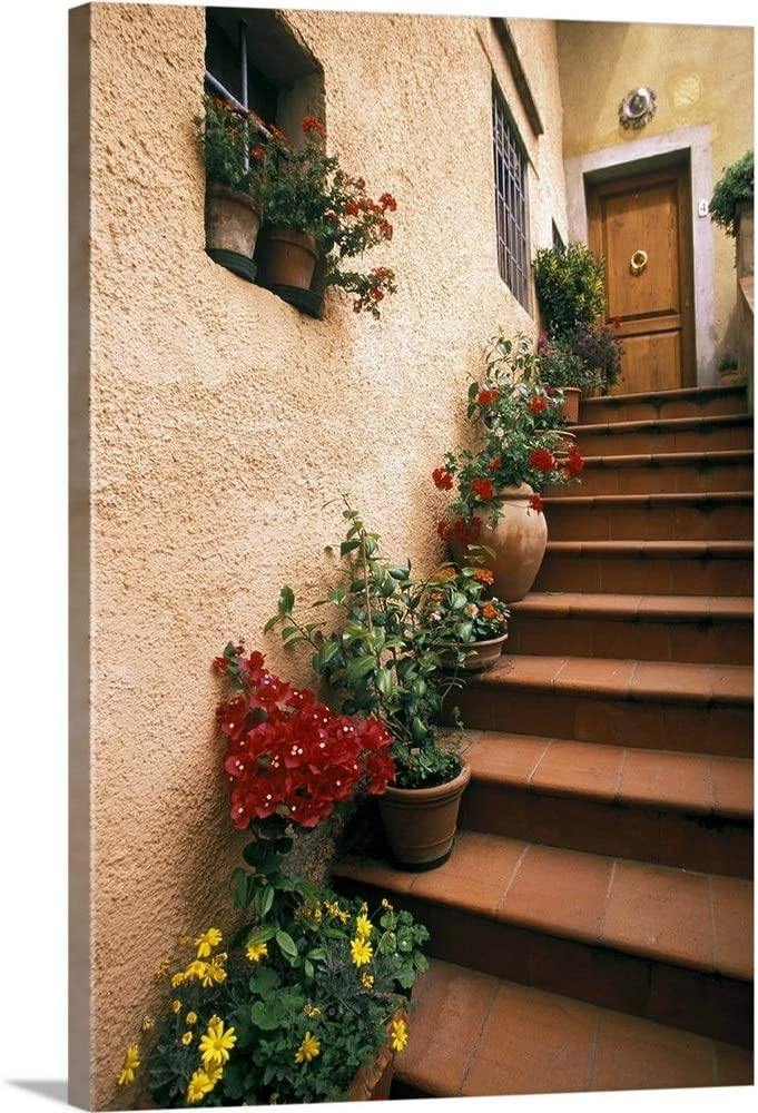 Tuscan Staircase Italy Be super welcome Canvas Ranking TOP10 Art Artwork Print Wall