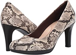 Taupe Synthetic Snake Print