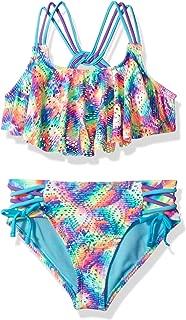 Angel Beach Big Girls' Flounce Strap Detail Bikini Swimsuit Set
