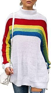 white t shirt with rainbow stripe