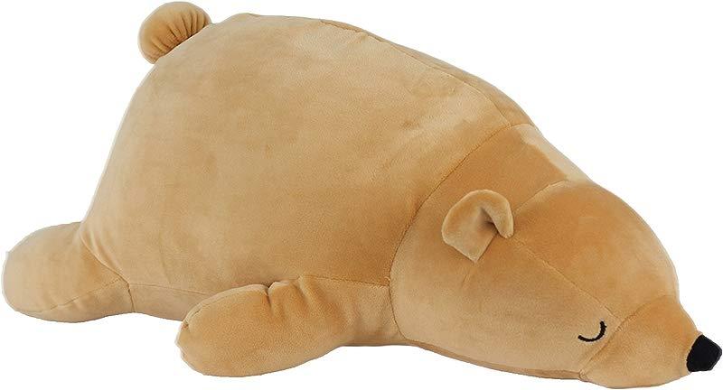 Nappy Plush Cute Bear Pillow Stuffed Cotton Soft Fluffy Animal Toy 15 Inches Medium Gift For Children Birthdays Holidays
