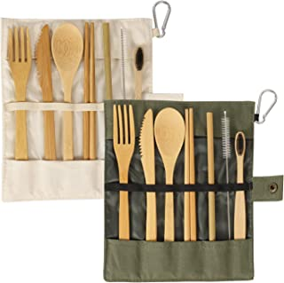 Best 20 piece bamboo flatware set Reviews