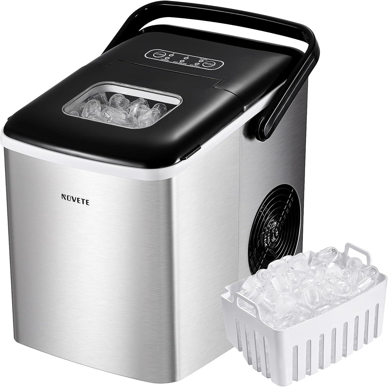 NOVETE Portable Ice Maker for Countertops
