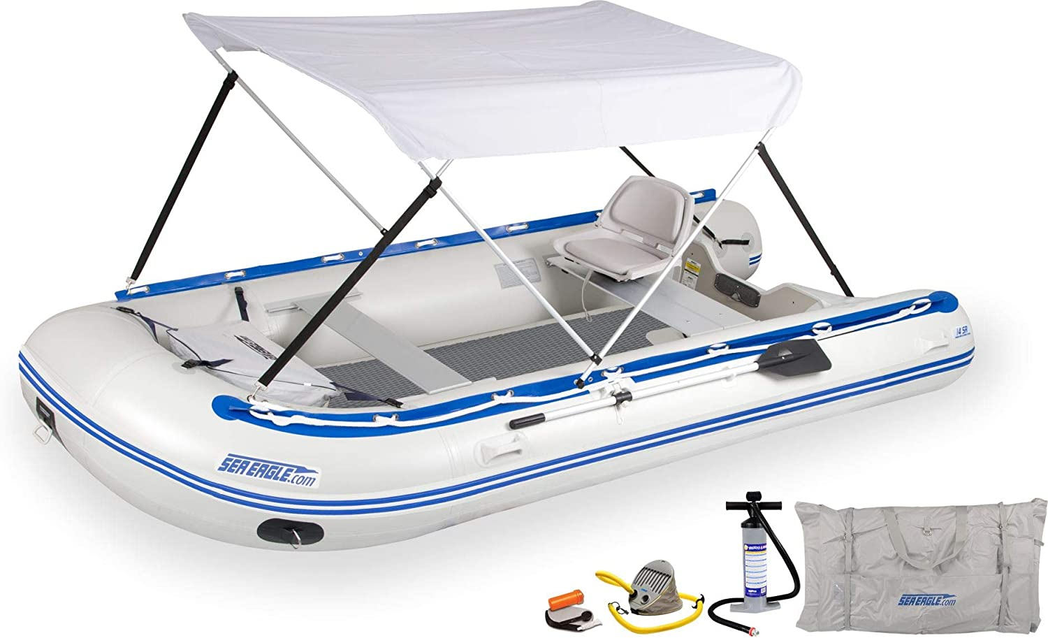 14SR Sport Runabout Drop-Stitch Canopy Swivel Year-end annual account Seat Cheap