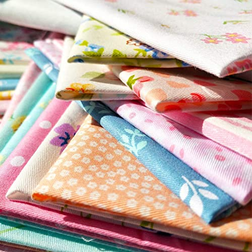 7ae0936f08a flic-flac 50pcs 8 x 8 inches (20cmx20cm) Cotton Fabric Squares Quilting  Sewing