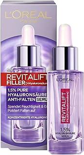 L'Oréal Paris Hyaluron Serum, Revitalift Filler, Anti-Aging Gesichtspflege, Anti-Falten, Mit 1,5% purer Hyaluronsäure und ...