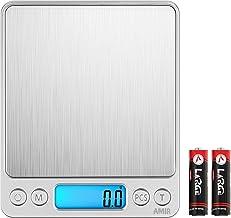 AMIR Balance de Cuisine, Balance de Précision Cuisine, 3kg/0.1g, Balance de Poche de Precision, Écran LCD Rétroéclairé, av...