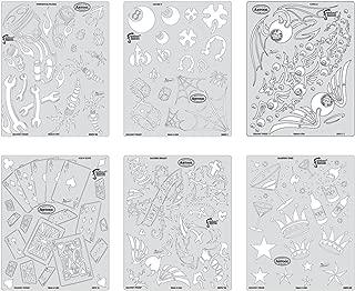 Artool Iwata-Medea Freehand Airbrush Templates, Kustom Kulture Mini Series