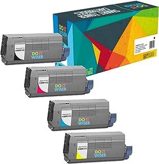 Do it Wiser Compatible Toner Cartridge for Oki C711 C710 C710N C711DN C711N - 43866101 43866103 43866104 43866102 (Black Cyan Magenta Yellow, 4-Pack)