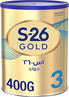 S26 GOLD 3 Stage 3, 1-3 Years Milk Powder for Toddlers Tin 400g