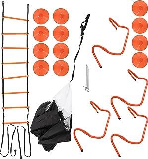 Ejoyous Hürden-sport-träningsset, PP + PVC + PE-löparparaply träningsset för sportträning