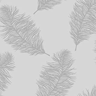 Fawning Feather Wallpaper Silver / Grey Holden 12626