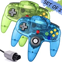 $26 » Wired N64 Controller, Upgrade Joystick Gamepad Controller for Original Nintendo 64 Console (Sapphire Blue and Jungle Green)
