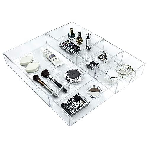 92bd45ef31 Ulinek 5 Piece Set Cosmetic Organiser Cabinet Bedside Organiser Drawers –  Clear