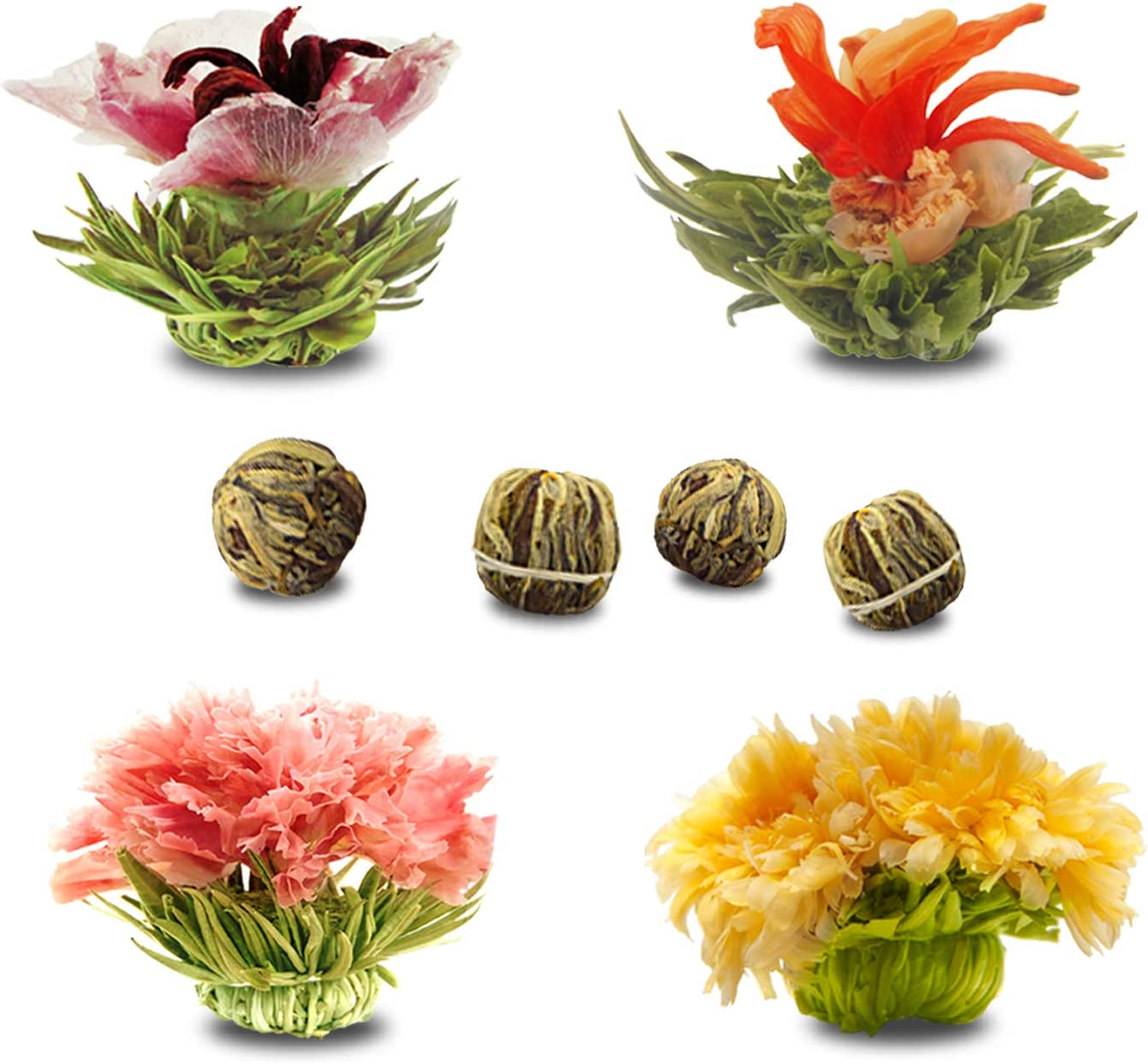 Blooming Tea Los Angeles Mall Balls Pack for Sets 4 2021 spring and summer new of