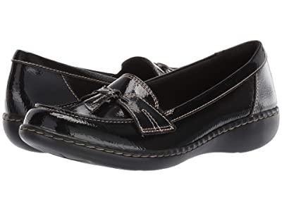 Clarks Ashland Bubble (Black Crinkle Patent Synthetic) Women