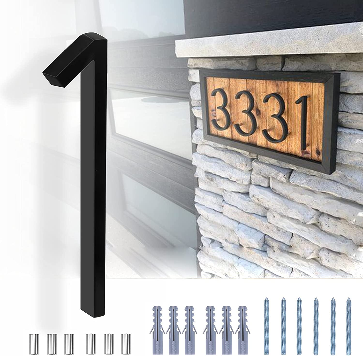5 Inch Floating House Number Zinc Modern Alloy Challenge the lowest price of OFFicial site Japan Nu Numbers
