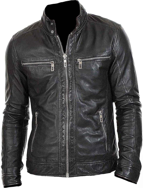 Waabastaa - Mens Black Leather Jacket | Motorcycle Leather Jacket