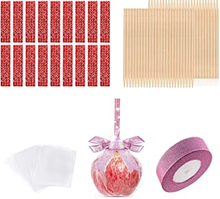 Eookall Candy Making Accessory, Bamboo Candy Sticks, Bling Rhinestone Decoration, Candy Glass Paper, Glitter Ribbon, for C...