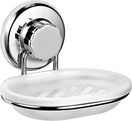 Shower Stainless Steel Soap Dish Holder Wall Mounted Accessory Sponge Holder