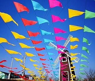 comprar comparacion Awinker 160 Metros 300 Piezas Guirnaldas Banderines Banderas Pancarta Colores Triángulo Decoración Colgante de Boda Bautiz...
