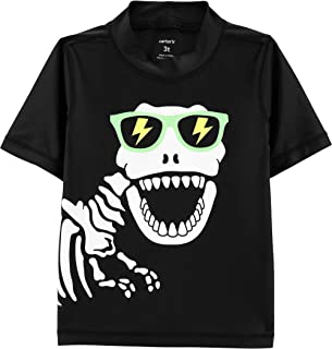 Carter's Boys' Dinosaur Skeleton Rashguard, Black