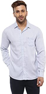 Mufti Button Down Sky Full Sleeves Shirt