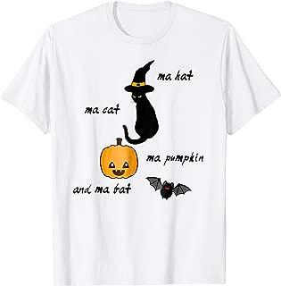 My Hat My Cat My Pumpkin And My Bat Shirt For Woman Men Kids