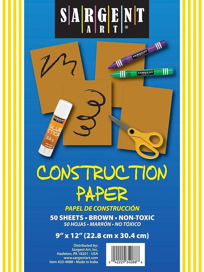 Sargent Art 23-4088 50-Count Brown Construction Paper