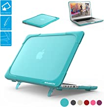 BRAECNstock MacBook Pro Retina 13 inch Case (A1502/A1425), Release 2015/2014/2013/end 2012, [Heavy Duty] [Dual Layer] Hard Case Cover withfold Kickstand for Apple MacBook Pro 13-inch-Light Blue