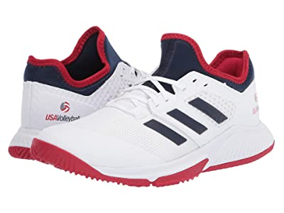 adidas Court Team Bounce (Footwear White/Collegiate Navy/Power Red) Women