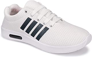 Camfoot Men's (9188) White Casual Sports Running Shoes