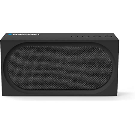 Germany's Blaupunkt BT52 10 W Portable Bluetooth Speaker with Dual Passive Radiators, Rich Deep Bass with up to 7H of Playtime (Black)