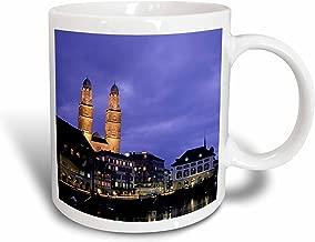 """مج خزفي 3dRose _82661_1""""Switzerland Zurich Cathedral River - EU29 WBI0688 - Walter Bibikow"""" سعة 325.3 مل، متعدد الألوان"""