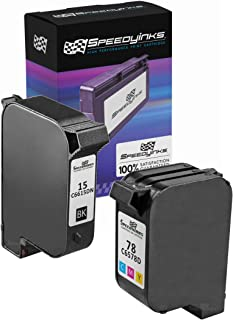 Speedy Inks - 2PK Remanufactured Replacement for HP 15 C6615 & HP 78 C6578D Ink Cartridge Set: 1 Black 1 Color