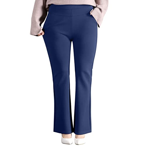 7fce12c032f ABCWOO Womens Plus Size Dress Trousers Pants for Office Work Ladies Yoga  Slacks