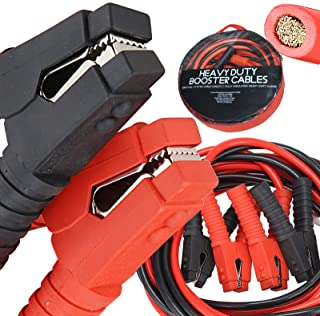Voilamart Auto Jumper Cables 2/0 Gauge 3000AMP 20Ft w/Carry Bag, Instruction Slip, Commercial...