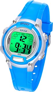 Kids Digital Watches for Girls Boys,7 Colors LED Flashing...