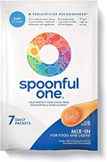 SpoonfulOne Allergen Introduction Daily Mix-ins   Baby Food Once-Daily Add-in (Original, 7 Pack)