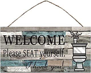"""BESTWD (Please seat Yourself Sign) Funny Republican Conservative Metal Tin Sign Wall Decor Man Cave Bar Annoy Liberals 10""""x5"""""""
