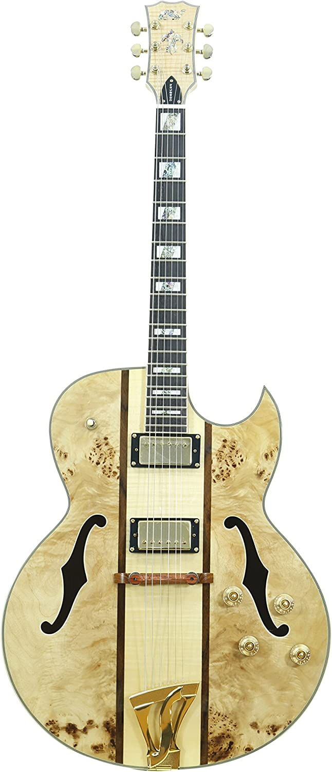 IYV 6 String Colorado Springs Mall Super popular specialty store Semi-Hollow-Body Electric I Natural Right Guitar